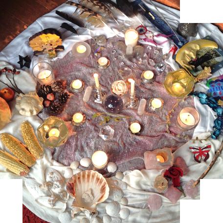 Altar apertura del espacio sagrado